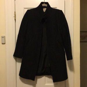 Jackets & Blazers - Boucle wool funnel neck pea coat